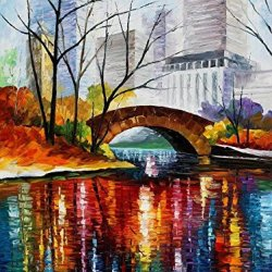 Central Park Modern Canvas Art Wall Decor Palette Knife Oil Painting Wall Art 30 X 40 In Unframed