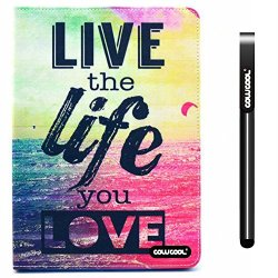 Cowcool® Ipad Air2 Case, Pu Leather Wallet Stand Case For Apple Ipad Air2 [Ipad 6] Live The Life Love Stand Kickstand Hand Stitching Protective Cover (Style4)