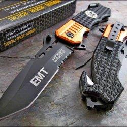 Tac-Force Rescue Emt Orange Belt Cutter Glass Breaker Knife