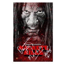 Danny Trejo And Michelle Rodriguez Autographed 16X24 Machete Kills Poster