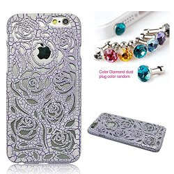 Cocoz® Apple Iphone 6 4.7 Case Fashion Beautiful Pc Palace Carved Rose Of England Fashion Design Mobile Phone Protective Shell For Iphone 6 4.7 Case. (Purple Taro & Carving Rose)