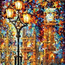 Fine Art Painting Superb Quality And Craftsmanship On Canvas Palette Knife Painting London' Dream 15X20In 37.5X50Cm Unframed