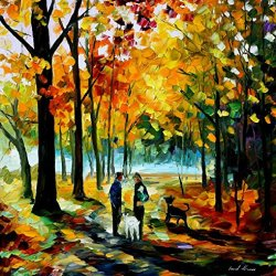 Fine Art Painting Superb Quality And Craftsmanship On Canvas Palette Knife Couples 30 X 30 In Unframed