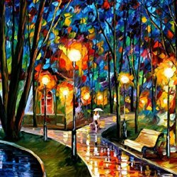 100% Oil Painting Unframed Park By The Lake Home Decoration Modern Knife Painting On Canvas 40 X 30 In 100 X 75 Cm