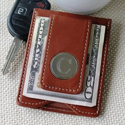Personalized Brown Money Clip And Wallet Combo - Free Engraving