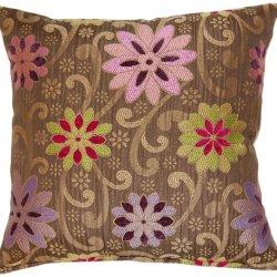 Dakotah Knife Edge Throw Pillows, 17-Inch By 17-Inch, Kaleidoscope Multicolor