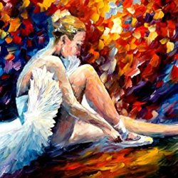 Decorative Room (Unframe And Unstretch) 100% Hand-Painted Palette Knife Oil Painting On Canvas,Young Ballerina,36 X 24 Inch (90 Cm X 60 Cm)
