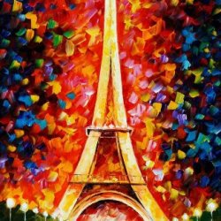 Tower Art Wall Decorative Canvas Knife Paintng On Canvas 20X30In/50X75Cm Unframed
