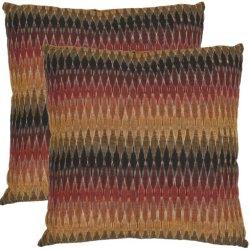 Safavieh Pillow Collection Rainbow Cascade 18-Inch Decorative Pillows, Set Of 2