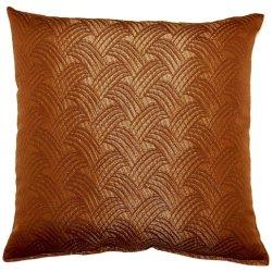 Dakotah Brush Off Brown Knife Edge Pillows, 17-Inch, Set Of 2