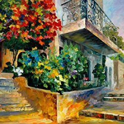 Fine Art Painting Superb Quality And Craftsmanship On Canvas Palette Knife Jerusalem Garden On The Stones 36 X 24 In Unframed