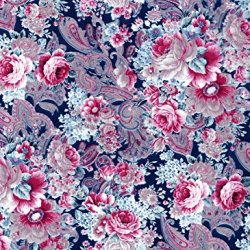 "Decoupage Paper Mache ""Vintage Blue Pink Flowers And Paisley 592"""