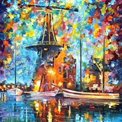 Morning Illusion Oil Paintings Modern Canvas Wall Art Decor For Home Decoration Palette Knife On Canvas 24 X 30 In Unframed