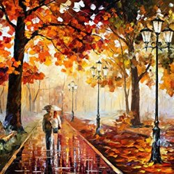 Fine Art Painting Superb Quality And Craftsmanship On Canvas Palette Knife Stroll Of Infinity 40 X 30 In Unframed