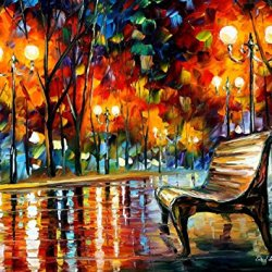 Why Did She Leave Palette Knife Oil Painting On Canvas Wall Art Deco Home Decoration 15X12In 37.5X30Cm Unframed