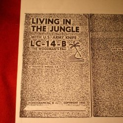 Booklet: Living In The Jungle With Us Army Knife Lc-14-B