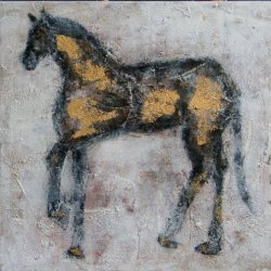 New High Quality Beautiful Horse Decorative Handpainted Abstract Oil Painting On Canvas