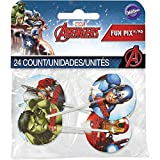 Wilton Industries Marvel Avengers Fun Pix Cupcake Toppers, Multicolor