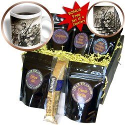 Cgb_83186_1 Danita Delimont - Engravings - World War (1914-1918). Soldiers With Bayonets. Engraving - Hi13 Pri0394 - Prisma - Coffee Gift Baskets - Coffee Gift Basket