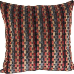 Brentwood Counter Culture Chenille 18-Inch Knife Edge Pillow, Rust