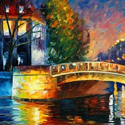100% Oil Painting Unframed Quiet Night Home Decoration Modern Knife Paintng On Canvas 25X30In/62.5X75Cm