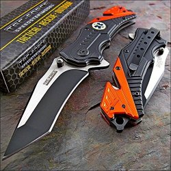 Tac-Force Modified Tanto Orange Emt Rescue Glass Breaker Knife!!