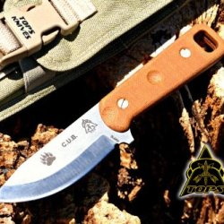 Tops Cub Survival Knife W/ Survival Kit - Compact Utility Blade C.U.B. Cub-01