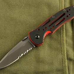 Serrated Tactical Survival Rescue Camping Hunting Folding Sharp Clip Knife Glby 6762-6.49''