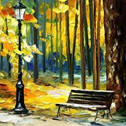 Palette Knife Canvas For Home Decoration,November Wall Art 40 X 24 In Unframed