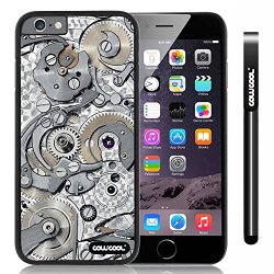 Cowcool® Apple Iphone 6 4.7 Inch Case Hard Pc Gear Tour Machinery Black Shell Single Layer Protective Case (Style4)