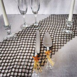 Wedding Cake Serving Set Real Starfish Star Fish Cake Knife Fork Server