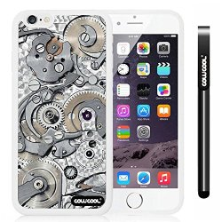 Cowcool® Apple Iphone 6 4.7 Inch Soft Silicone Gear Tour Machinery White Shell Single Layer Protective Case (Style4)