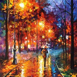 Christmas Spirit Art Wall Decorative Canvas Palette Knife Painting On Canvas 15X20In 37.5X50Cm Unframed