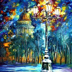 St. Petersburg Oil Paintings Modern Canvas Wall Art Decor For Home Decoration Palette Knife On Canvas 30 X 36 In Unframed
