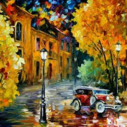 100% Oil Painting Unframed Old Car Home Decoration Modern Knife Painting On Canvas 36 X 30 In 90 X 75 Cm