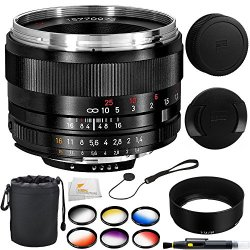 Zeiss 50Mm F/1.4 Planar T Zf.2 Series Manual Focus Lens For The Nikon F (Ai-S) Bayonet Slr System + 10Pc Accessory Kit. Includes 6 Piece Graduated Color Filter Kit + Lens Pouch + Lens Cap Keeper + Lens Pen + Microfiber Cleaning Cloth