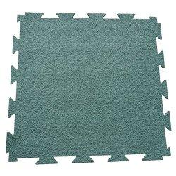 Terra-Flex Interlocking Rubber Flooring - 1/4X24X24 Inch - Premium Rubber Tiles - Green