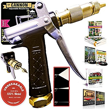 """DESIGN of the CANNON SPRAYER -- PRESSURE Vs VOLUME (Please Read !!!!) The nozzle designed to find a good balance between the VOLUME (FLOW) & PRESSURE of water emanated. We designed it to be """"GENTLE"""" enough to water your plants, and """"STRONG"""" enough..."""