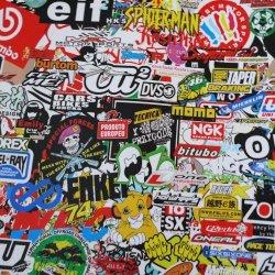 """Jdm Racing Graffiti Sticker Bomb Vinyl Wrap Sticker Decal Film Sheet #202 - 12""""X60"""""""