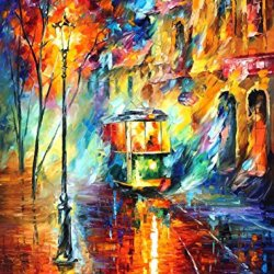 Modern Art Canva Trolley Painting Knife Painting Wall Art Canvas Unframed Painting 30 X 40 In 75 X 100 Cm