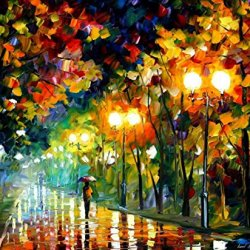 100% Oil Painting Unframed Fall Alley Home Decoration Modern Knife Painting On Canvas 30 X 30 In 75 X 75 Cm