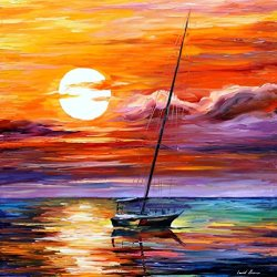 Palette Knife Canvas For Home Decoration,Far And Away Wall Art 30 X 30 In Unframed