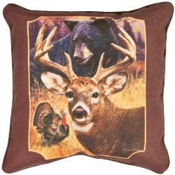Manual Decorative Square Throw Pillow, Hunter'S Dream By Greg Giordano, 18-Inch