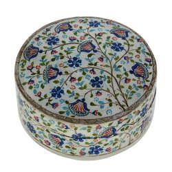 Handmade Paper Mache Trinket Box Beautiful Decoration Or Stylish Box For Gifts, 6 Inches