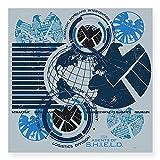 CafePress Agents of Shield Square Sticker 3 x 3 - 3x3 White