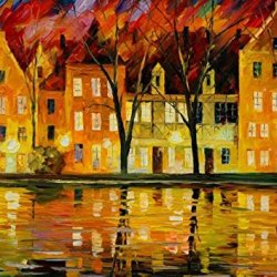 Cold Day Art Wall Decorative Canvas Knife Paintng On Canvas 28X20In/70X50Cm Unframed