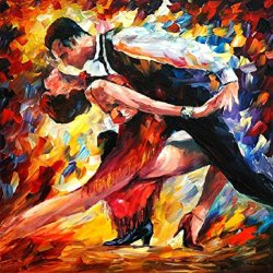 Xm Art-Hot Dance Tango Palette Knife Landscape Oil Painting On Canvas Wall Art Deco Home Decoration(Unstretch And No Frame)