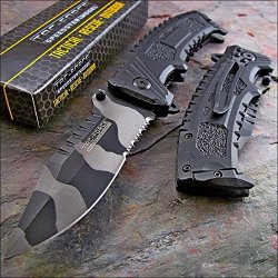 Tac-Force Urban Camo Sawback Clip Point Tactical Knife
