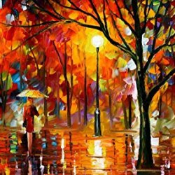 Fine Art Painting Superb Quality And Craftsmanship On Canvas Palette Knife Old Park 36 X 30 In Unframed