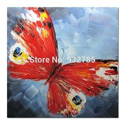 Palette Knife Painting Oil Painting On Canvas 100% Hand Made Butterfly Artwork Wall Picture Modern Textured Home Decor Art